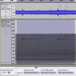 2 pings of a 3.75 kHz sonar