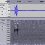 A single 3.75 kHz ping