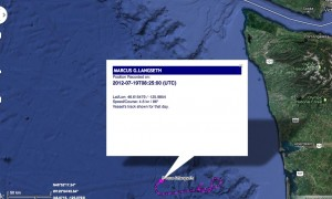 Langseth seismic cruise track